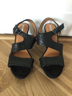Leder High Heel Sandaletten