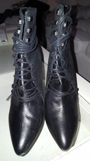 Leder High Heel Stiefelette