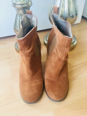 Asos Bottines à enfiler bronze cuir