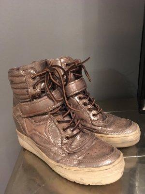 Airstep Heel Sneakers grey brown-brown leather