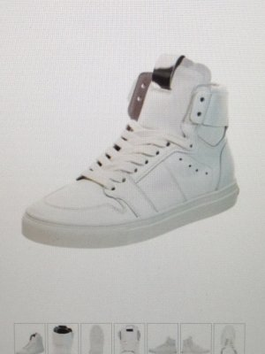 Leder High Top Sneaker
