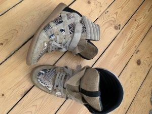 Leder high top Wedge Sneaker Animal Print Gr 39
