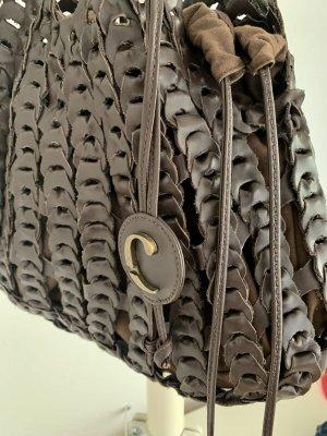 Leder Hobo Bag Caractére Schultertasche braun Medium