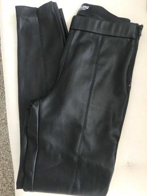 Zara Leather Trousers black