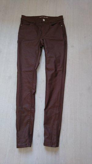 Orsay Pantalone in pelle marrone scuro