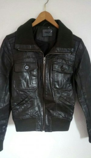Leder Jacke aus echtem Leder
