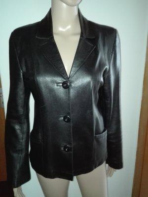 Leder Jacke,aus echtem Leder in Schwarze Farbe