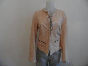 Leder Jacke , Blazer von Luisa Cerano Gr 42 Rosa Luxus Pur , Neu