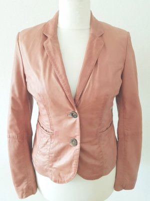 Rino & Pelle Leather Blazer dusky pink leather