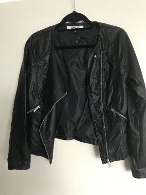 Leder Jacke schwarz  von only