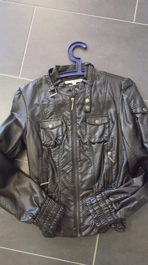 Leder Jacke tally schwarz