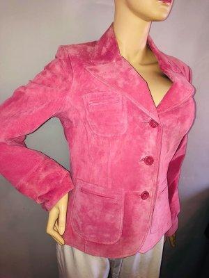 Leder Jacke von Biba in gr 40 (Echtes Leder) Farbe Rosa