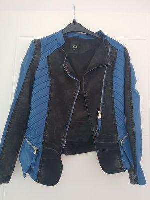 Leder/Jeans Jacke