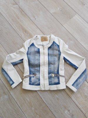 Leder - Jeans Jacke Gr. 34 Amisu