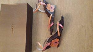 Leder Keilabsatz Sandalette von Audley. Gr.37