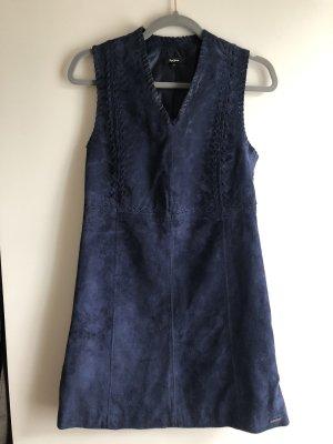 Leder Kleid dunkel Blau Minikleid Pepe Jeans