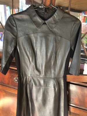 Blacky Dress Leather Dress black