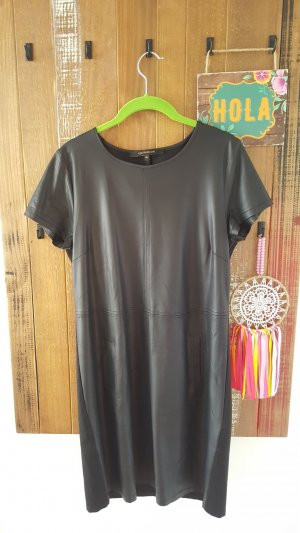 Leder Kleid Imitat schwarz
