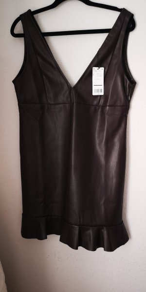 Mango casual Leather Dress black brown