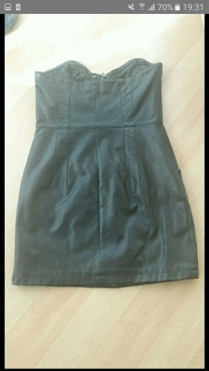 Leder Kleid mit Reißverschluss
