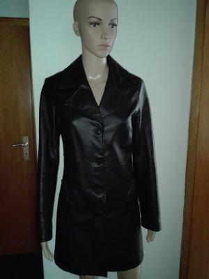 Leder Kurz- Mantel,aus echtem Leder,in Schwarze Farbe