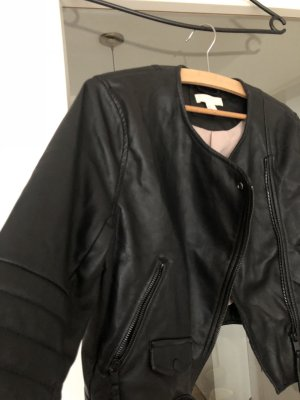 Leder kurze Jacke