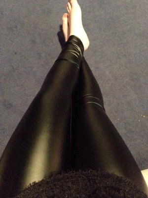 Leder-leggings