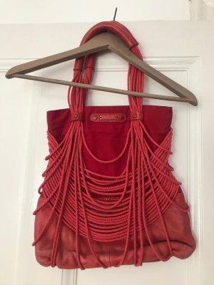 Diesel Shoulder Bag raspberry-red leather