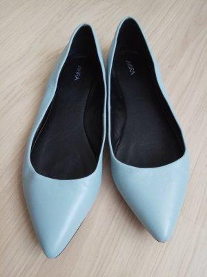 Akira Ballerine en pointe bleu azur cuir