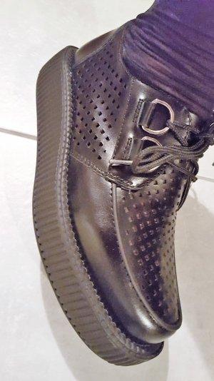 leder loafers in schwarz große 38