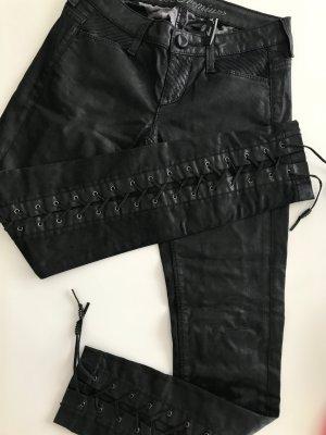 Guess Pantalone a vita bassa nero Lycra