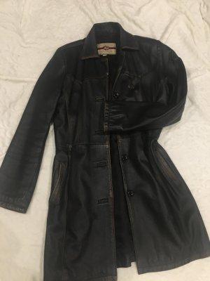 Leder Mantel aus Italien