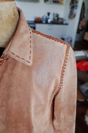 Leder Mantel mittelbaun Ralph Lauren Sport Größe 40