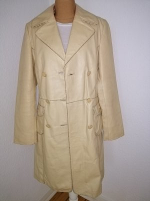 Object Leather Coat cream leather