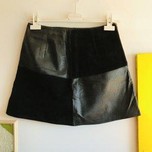 Minkpink Leren rok zwart