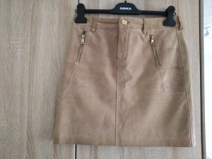 C&A Leather Skirt light brown