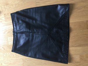 Leder Minirock schwarz