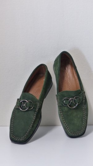 Hush Puppies Moccasins forest green suede