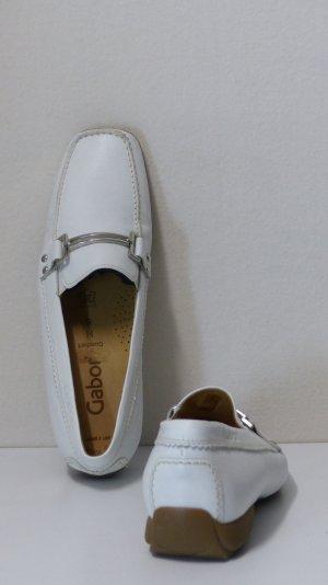 Gabor Mocassino bianco-argento Pelle