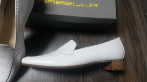Moccasins white leather