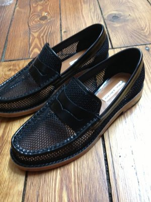 Mocassins bordeau cuir