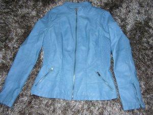Leder Optik Jacke in Hellblau von Escandelle Paris, Gr. L
