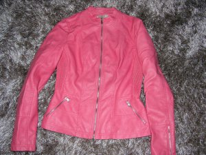 Escandelle Faux Leather Jacket bright red-salmon