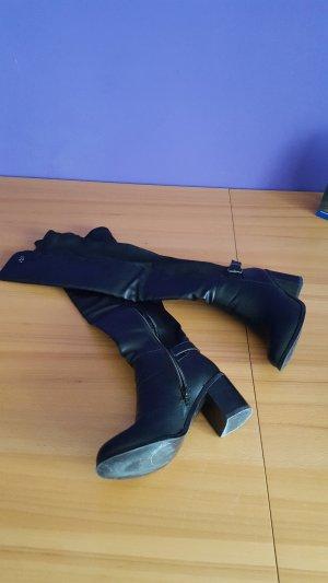 Buffalo Cuissarde noir cuir