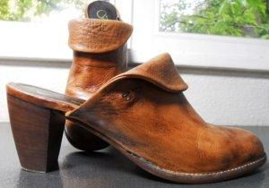 Leder Pantolette cognac Größe 41