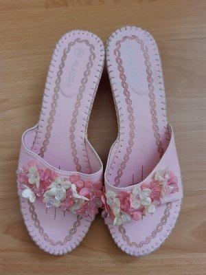 Heel Pantolettes dusky pink-light pink leather