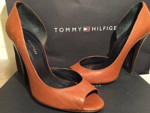 Leder peep toes cognac Tommy Hilfiger *neuwertig* Gr. 40