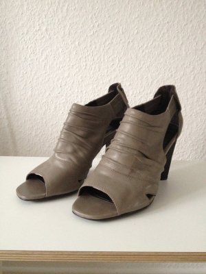 Belmondo Peep Toe Pumps grey brown