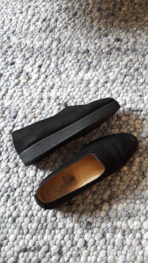 Zapatos sin cordones negro Gamuza