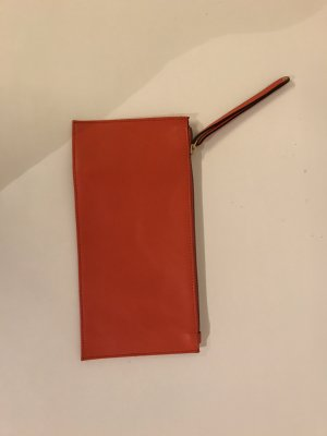 Leder Pouchette orange